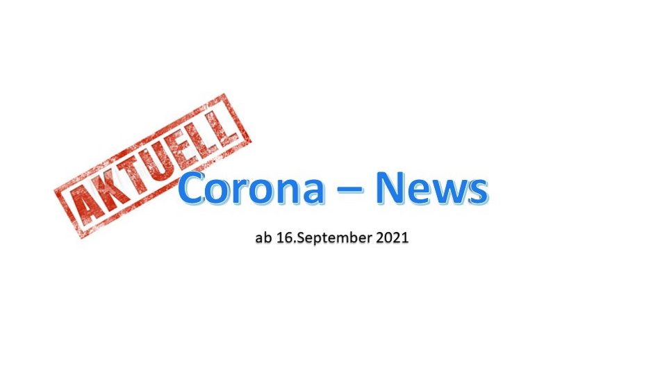 Corona-Verordnung ab 16.September 21